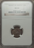 Mexico, Mexico: Republic 1/2 Real 1836 Mo-ML MS64 NGC,...