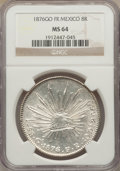 Mexico, Mexico: Republic 8 Reales 1876 Go-FR MS64 NGC,...