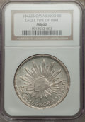 Mexico, Mexico: Republic 8 Reales 1842 Zs-OM MS62 NGC,...