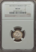 Mexico, Mexico: Charles IV 1/2 Real 1801 Mo-FT MS64 NGC,...