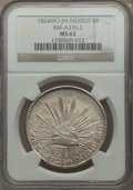 Mexico, Mexico: Republic Hookneck 8 Reales 1824 Mo-JM MS62 NGC,...