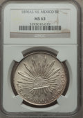 Mexico, Mexico: Republic 8 Reales 1890 As-ML MS63 NGC,...
