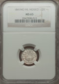 Mexico, Mexico: Republic 1/2 Real 1841 Mo-ML MS65 NGC,...