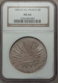 Mexico, Mexico: Republic 8 Reales 1887 As-ML MS64 NGC,...