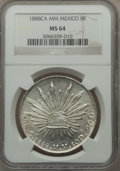 Mexico, Mexico: Republic 8 Reales 1888 CA-MM MS64 NGC,...