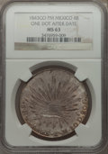 Mexico, Mexico: Republic 8 Reales 1843 Go-PM MS63 NGC,...