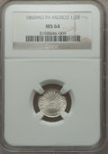 Mexico, Mexico: Republic 1/2 Real 1860 Mo-FH MS64 NGC,...