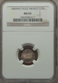 Mexico, Mexico: Republic 1/2 Real 1860 Mo-FH/GC MS65 NGC,...