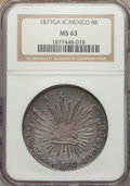 Mexico, Mexico: Republic 8 Reales 1877 Ga-IC MS63 NGC,...