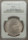 Mexico, Mexico: Republic 8 Reales 1849 Zs-OM MS62 NGC,...