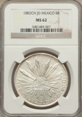 Mexico, Mexico: Republic 8 Reales 1882 Cn-JD MS62 NGC,...