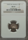 Mexico, Mexico: Republic 1/2 Real 1856 Pi-MC MS64 NGC,...
