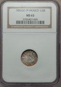 Mexico, Mexico: Republic 1/2 Real 1852 Go-PF MS63 NGC,...