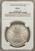 Mexico, Mexico: Republic 8 Reales 1897 Go-RS MS61 NGC,...