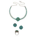 Estate Jewelry:Suites, Turquoise, Silver Jewelry Suite. ... (Total: 3 Items)