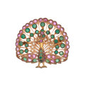 Estate Jewelry:Brooches - Pins, Ruby, Emerald, Seed Pearl, Gold Pedant-Brooch. ...