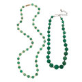 Estate Jewelry:Necklaces, Aventurine Quartz, Freshwater Cultured Pearl Necklaces. ... (Total:2 Items)