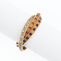 Estate Jewelry:Rings, Diamond, Ruby, Sapphire, Tri-Color Gold Ring. ...