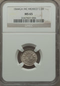 Mexico, Mexico: Republic 1/2 Real 1844 Ga-MC MS65 NGC,...