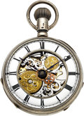 Timepieces:Pocket (pre 1900) , Swiss Skeletonized Quarter Hour Repeater, circa 1820. ...