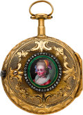 Timepieces:Pocket (pre 1900) , Marchand Paris Very Fine Gold Verge Fusee, circa 1790. ...