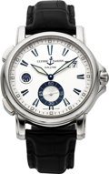 "Timepieces:Wristwatch, Ulysse Nardin Ref. 243-55 ""Dual Time"" Steel Automatic. ..."