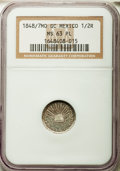 Mexico, Mexico: Republic 1/2 Real 1848/7 Mo-GC/RC MS63 Prooflike NGC,...