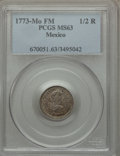 Mexico, Mexico: Charles III 1/2 Real 1773 Mo-FM MS63 PCGS,...