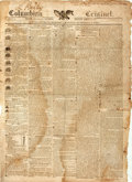 Miscellaneous:Newspaper, [War of 1812 -- Battle of New Orleans]. Newspaper: ColumbianCentinel....