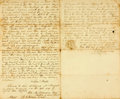 "Autographs:Military Figures, [Revolutionary War]. War Veteran Affidavit of Service. Two and one-half pages, 8"" x 13.25"", Sullivan County, New Hampshire, ..."