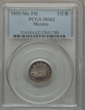 Mexico, Mexico: Republic 1/2 Real 1859 Mo-FM MS62 PCGS,...