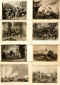 "Engravings of American Historical Events. All near 7"" x 10"". Over twenty-five engravings of mostly American hi..."
