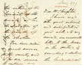 """Autographs:Statesmen, Levi P. Morton Autograph Letter Signed. Four pages, 4.5"""" x 7"""", [NewYork], January 6, 1877, with original postmarked transmi..."""