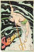 Original Comic Art:Splash Pages, Bill Everett - Sub-Mariner Pin-Up Original Art (undated)....