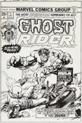 Original Comic Art:Covers, Gil Kane and Tom Palmer Ghost Rider #11 Cover Original Art(Marvel, 1975)....