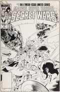 Original Comic Art:Covers, Mike Zeck and Bob McLeod Marvel Super-Heroes Secret Wars #9Cover Iron Man, Thor, Hulk, Captain America, Spider-Ma...