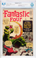 Silver Age (1956-1969):Superhero, Fantastic Four #1 (Marvel, 1961) CBCS VF+ 8.5 White pages....