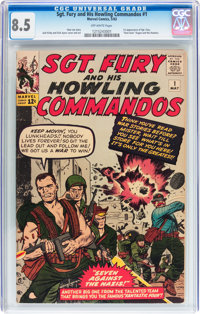 Sgt. Fury and His Howling Commandos #1 (Marvel, 1963) CGC VF+ 8.5 Off-white pages