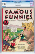 Platinum Age (1897-1937):Miscellaneous, Famous Funnies #8 (Eastern Color, 1935) CGC FN/VF 7.0 Cream tooff-white pages....