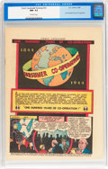 Golden Age (1938-1955):Non-Fiction, Comic Cavalcade Giveaway #nn One Hundred Years of Co-Operation (DC,1944) CGC NM- 9.2 Off-white pages....