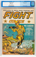 Golden Age (1938-1955):War, Fight Comics #25 Double Cover (Fiction House, 1943) CGC NM- 9.2Cream to off-white pages....