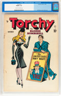Golden Age (1938-1955):Miscellaneous, Torchy #1 (Quality, 1949) CGC FN/VF 7.0 Cream to off-white pages....
