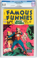 Golden Age (1938-1955):Science Fiction, Famous Funnies #211 (Eastern Color, 1954) CGC VF 8.0 Whitepages....