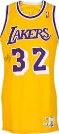 "Basketball Collectibles:Uniforms, 1988-89 Earvin ""Magic"" Johnson Game Worn Los Angeles Lakers Jersey,MEARS A10...."