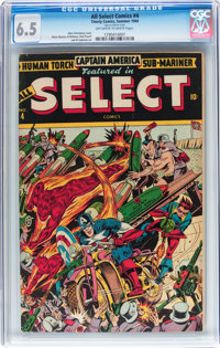 All Select Comics #4 (Timely, 1944) CGC FN+ 6.5 Off-white to white pages