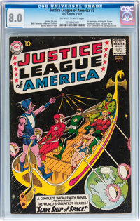 Justice League of America #3 (DC, 1961) CGC VF 8.0 Off-white to white pages