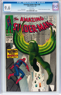 The Amazing Spider-Man #48 (Marvel, 1967) CGC NM+ 9.6 White pages