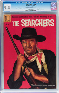 Four Color #709 The Searchers (Dell, 1956) CGC NM 9.4 Off-white to white pages