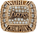 Basketball Collectibles:Others, 2000 Los Angeles Lakers NBA Championship Ring Presented to John Celestand....