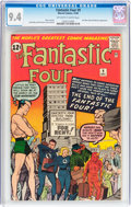 Silver Age (1956-1969):Superhero, Fantastic Four #9 (Marvel, 1962) CGC NM 9.4 Off-white to whitepages....